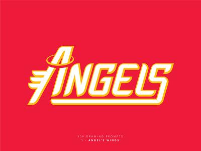 Angels logo design logomark logotype baseball wing wings angels angel wordmark custom typography type design type brand design vector sports graphic design branding logo