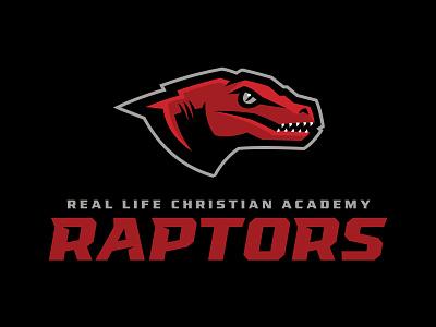 RLCA Raptors logo mark logotype identity design identity dinosaur dino raptor athletics school team sport sports design sports logo branding illustration brand matthew doyle mascot sports logo