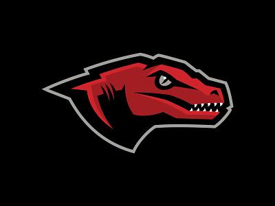 RLCA Raptors logo mark logotype identity design identity dinosaur dino raptor athletics school team sport sports logo illustration branding brand design matthew doyle mascot sports logo