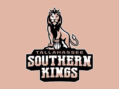 Tallahassee Southern Kings Brand Identity crown compass florida tallahassee basketball logo basketball southern kings king wildcat cat lions lion sport branding illustration brand mascot sports logo