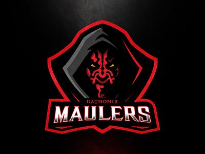 Dathomir Maulers team sports mascot logo star wars maulers dathomir maul darth