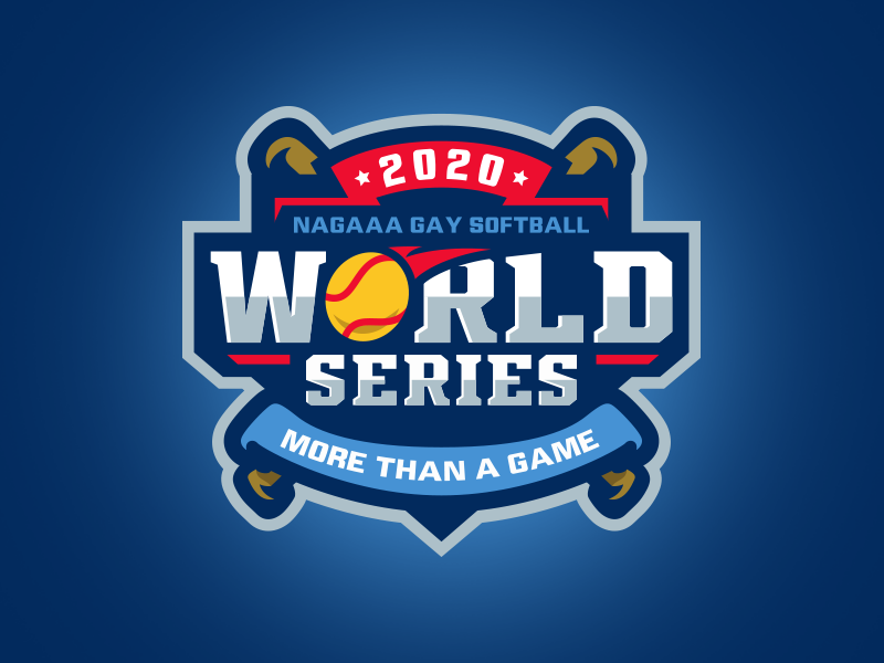NAGAAA Softball World Series design logo sports bat baseball world series nagaaa softball