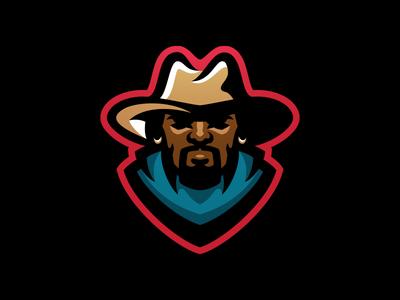 Tulsa Desperados Secondary beard hat earings smoke guns bandit desperados cowboy sport logo football mascot sports logo