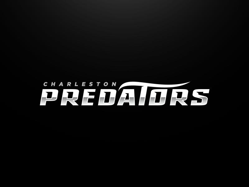 Charleston Predators Wordmark predators wave water orca killer whale whale esports animal sport logo football mascot sports logo