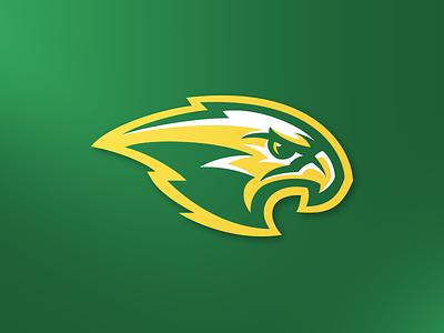 Hawk sport logo branding animal hawkeye eagle falcon predator prey attack raptor bird hawk brand mascot sports logo