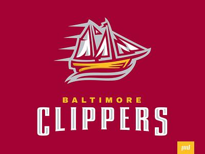 Baltimore Clippers Full Branding ship water sail boat clippers baltimore esports branding sport logo brand football design vector matthew doyle mascot sports logo