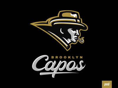 Brooklyn Capos Full Branding new york mobster gangster capos brooklyn team esports branding sport logo brand football design vector matthew doyle mascot sports logo