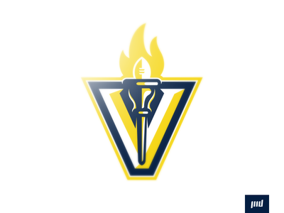 Indianapolis Volunteers torch v volunteers indianapolis indy team esports brand football design vector mascot sports logo