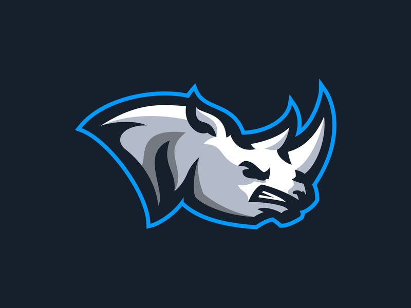 Rhino esports brand animal illustration animal logo rhino logo buy for sale birthday matthew doyle rhinoceros branding sports logo sports mascot mascot design mascot logo animal rhino