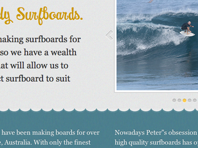 Malibus, Logs & Longboards surfboard surfing water waves blue grey noise yellow gallery texture walrus moistness website web design