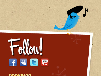 Rockabilly Twitter texture twitter web website red