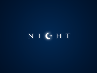 Night Concept graphic idea concept night logo