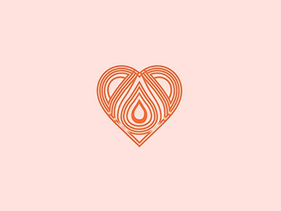 A Drop Of Love   love design logo mark