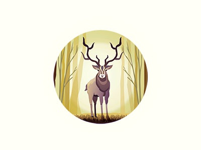 Stag in the forest - 2