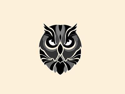 Owl Illustration design graphic bird yellow gray illustration owl