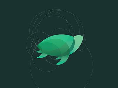 Turtle  circle logo design grid design green graphic design animals animal mark turtle illustration