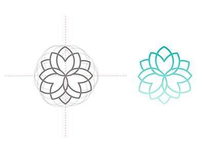 Flower Motif logo design design logo icon motif flower lotus