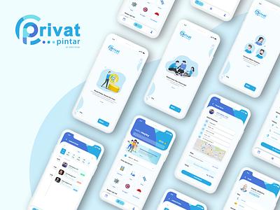 Privat Pintar App typography mobileapps app uxdesign ux uiux uidesign ui design
