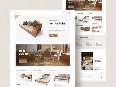 Wooden Furniture Exploration furniture furniture design webdesign likeforlike uxdesign ux uiux uidesign ui design