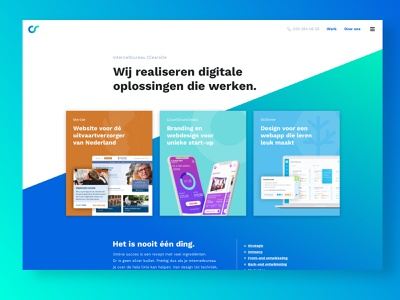Homepage redesign creative agency responsive gradient homepage redesign homepage web design website design website redesign redesign ux ui rebranding website content design content design branding