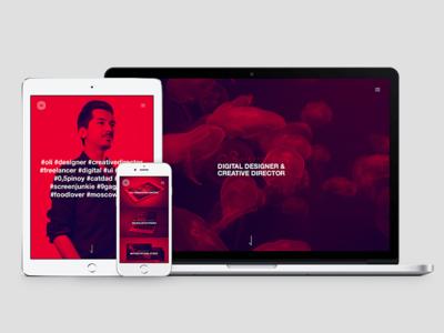 www.oliverecker.com portfolio digital red website duplex case study branding semplice wordpress
