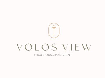 Volos View branding vintage logo airbnb apartments greece magnesia