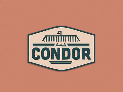 The Condor Outdoor Badge logodesign adventure camping badge condor outdoor logo