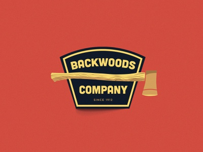 Backwoods Co. Badge logodesign volos magnesia greece illustrator branding flatdesign adventure logo badge woods
