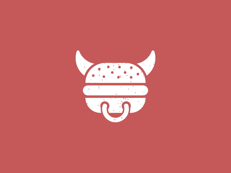 Burger cow logo burger cow meat food brand