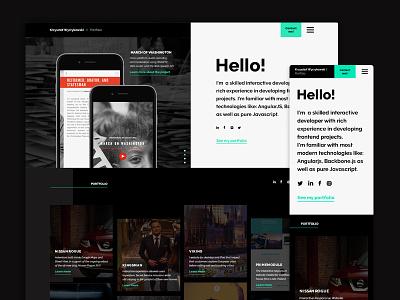 Developer Portfolio webdesign ux ui portfolio