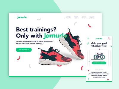 Jamurlo Training App sport application app design webdesign uiux app training