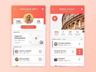 Travel App  trip webdesign mobile app app design app travel
