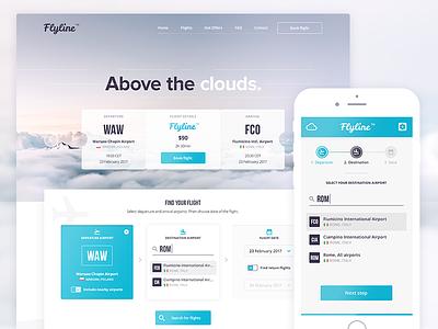 Flyline App mobile app desktop app app design web design boarding boarding card fly trip