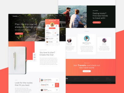 Travello Landing Page
