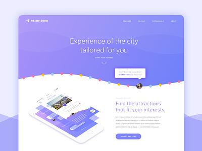 Rekomendo Landing Page ux ui web mobile app landing landing page