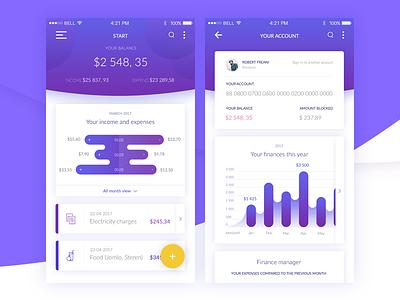 Banking Application app design web design ux ui app bank banking