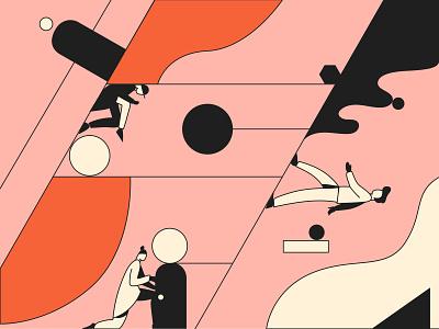 Alter Ego editorial illustration editorial vector minimal flat character art illustrator illustration design