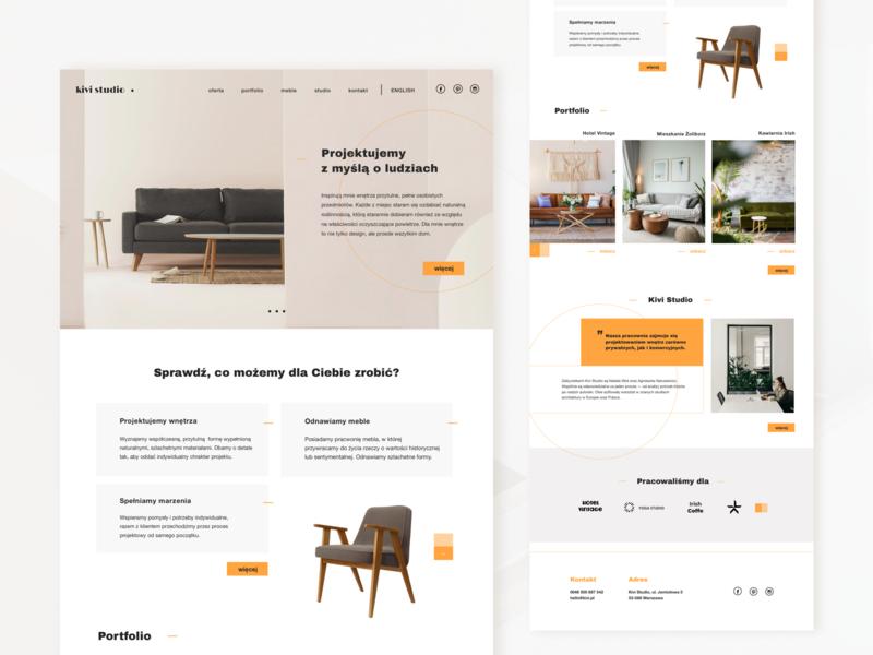 UI challenge | home page interior design studio orange interior design interior studio ui design web landing page homepage webdesign challenge ui