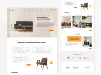 UI challenge | home page interior design studio orange interior design interior studio ui design web landing page homepage webdesign challenge ui