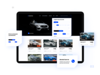 Rental car company website – UX/UI design blue and black blue automotive web design rental car car ui design ux  ui