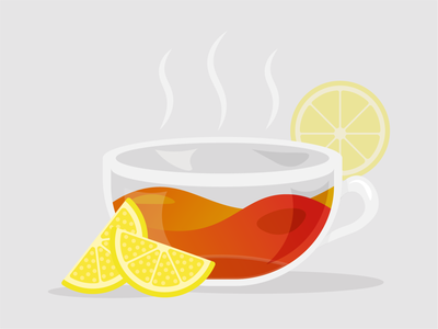 Lemon Green Tea Illustration drinks lemon green tea tea cup cup illustrator adobe tea icon logo vector design illustration