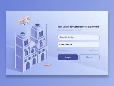 login flat design illustration ui website login page