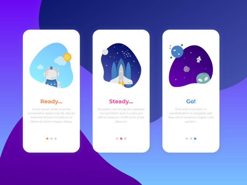 Daily UI 023 - Onboarding app ui design dailyui