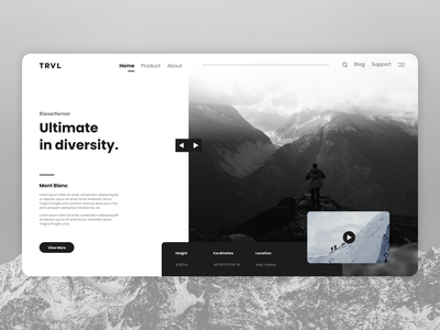 Travel agency - Concept - Landing page agency landing page travel mountain nature web icon ux typography branding ui minimal flat figma design