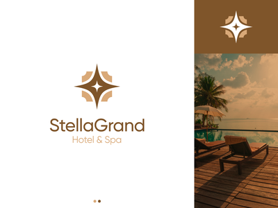 Stella Grand - Hotel and Spa concept relaxing luxury spa hotel figma design vector branding logo minimal
