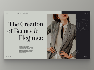 Clothing Web Shop - UI Concept app typography flat branding web ui ux minimal figma design