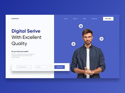 Digital service - UI Concept logo website app branding web ui ux minimal design figma