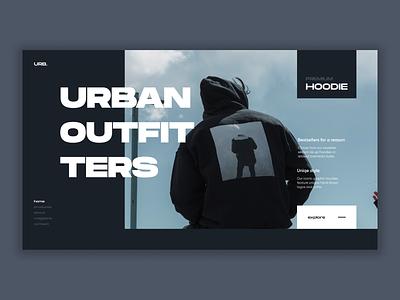 Urban Hoodies Shop hoodie urban app flat typography ui branding web ux minimal figma design