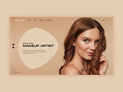 Makeup Artist - Ui Concept app flat typography branding ui web ux minimal figma design