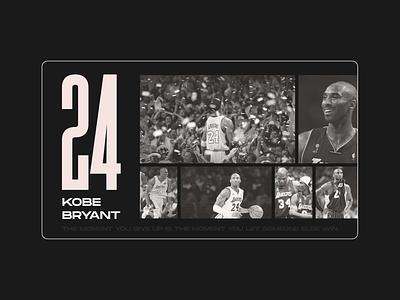 Kobe Brynt flat typography branding web ux ui minimal figma design respect rip kobe bryant